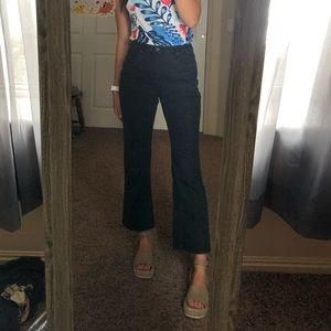 Women's black bootcut/ straight leg/ flare jeans